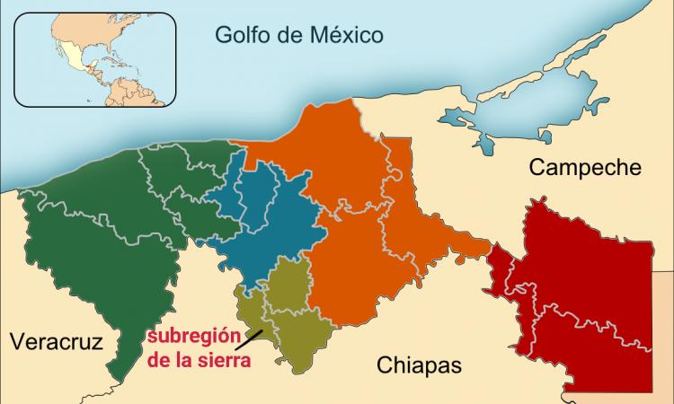 Mapa de muros de contención